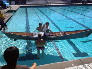 PVIT Solar CUp - in the pool with solar canoe