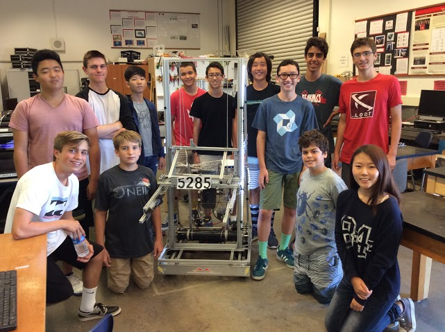 Palos Verdes Institute of Technology | PVIT - First Robotics -- photo of students with robotic